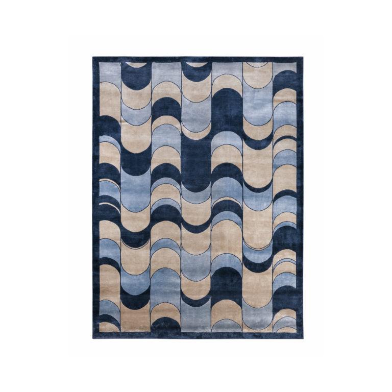 Eclipse波浪图案地毯