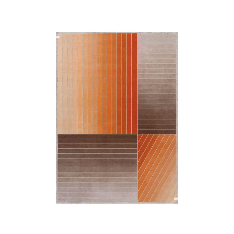 Madison ковер оранжевые полосы
