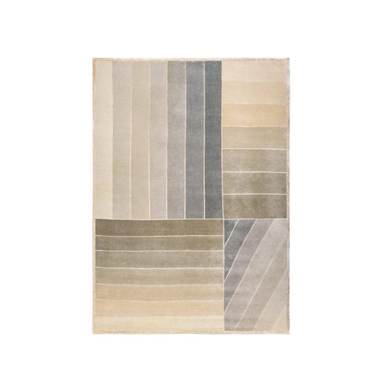 Zero – carpet with green stripes
